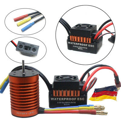 9T 4370KV Brushless Moto+60A ESC Speed Controller Combo ME720 for 1/10 RC Car F