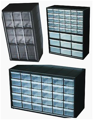 Small Parts Storage Plastic Organizer Hardware Tool & Craft Cabinet 9-39 Drawers