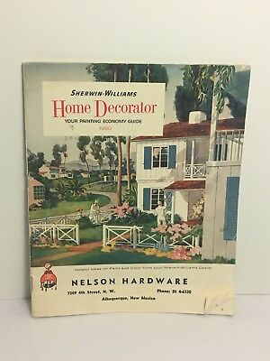 Vintage Sherwin Williams 1960 Painting Color Guide Book Home Decorator Brochure