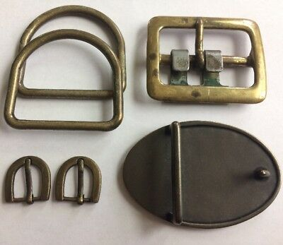 Vintage 1970s Lot Of 4 Solid Cast Brass Steampunk Jeans / Shoe / Belt Buckle