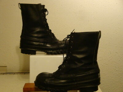 LaCrosse Outdoors Man Black Leather Duck Boots Size 8 D