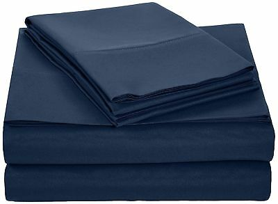 Persian Collection Navy Twin 1900 Count Sheet set 16 Deep Pocket Wrinkle Free