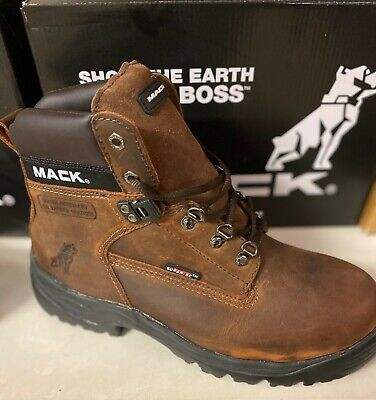 Mack Boots,Bulldog Safety Boot,  Dark Brown (Rocky)