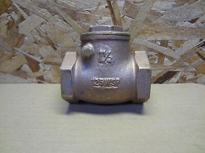 "Watts 1-1/2"" 1-1/2 Inch Bronze Swing Check Valve Installed But Never Used"