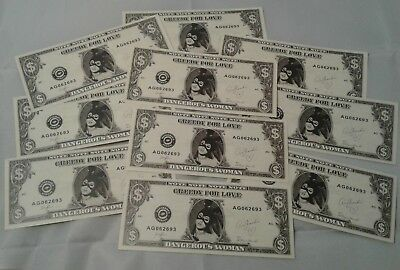 Ariana Grande Dangerous Woman Tour 2017 Stage Used Dollar Bill Money 16 Pack