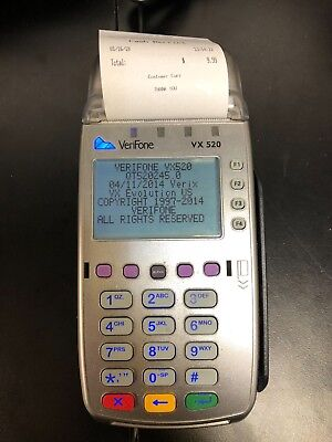 VeriFone Vx520 EMV Credit Card Machine FIRST DATA OMAHA ONLY - CONTACTLESS