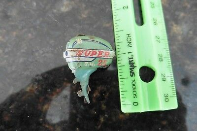 Vintage Tin Super SH 25 outboard motor boat dingy toy litho blue part