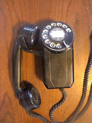 Vintage Automatic Electric Monophone Telephone Wall Mount Art Deco Space Saver