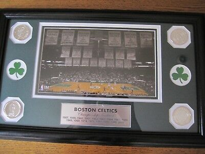 Boston Celtics Championship Plaque. Depicts All The Championship Years. Has 4 Co