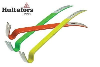 """Hultafors Mini Wrecking Pry Bar 7.1/2"""" hand sized for small pins nails 3Colours"""