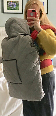 Babywearing winter cover attaches over your baby carrier