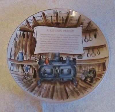 "Vintage ""A Kitchen Prayer"" collectable plate"