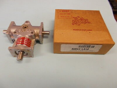 Browning Aluminum Right Angle Bevel Gearbox, Ratio 1:1,  3ARA1-LR10