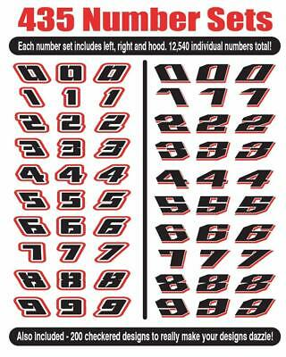 Awesome Race Car Number Vector Clip Art For Vinyl Sign Cutter Racing - Only Here