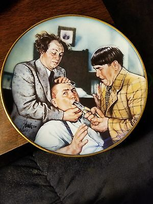THREE STOOGES..The Dental Experts.. Yanks For The Memories Plate. FREE SHIPPING!