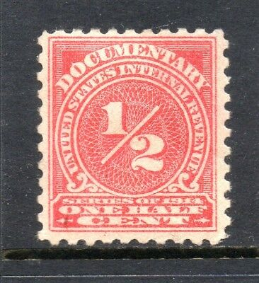 Scott # R206, unused, HR, F-VF, ½¢ Documentary, 1914, No Faults!