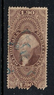 Scott # R80c, used, F, $1.90 Foreign Exchange, 1863, Space Filler