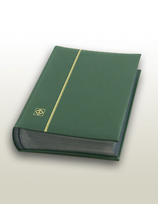 Lighthouse Leather Stockbook  (64 Pgs.) LZS4/32N Green- 45% OFF - Free shipping