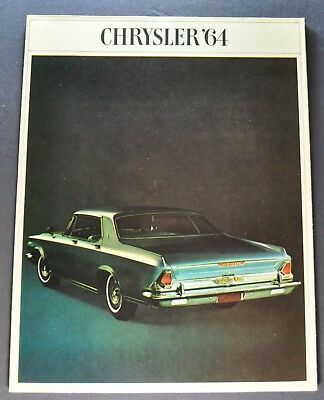 1964 Chrysler Brochure New Yorker Salon 300 -K Newport Town & Country Original