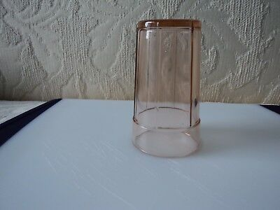 "Pink Depression Glass 3.3/4"" Tumbler ""fortune""  Pattern Excellent Mint Condition"