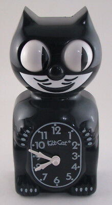 Vintage Black Kit Cat Clock Working, Made In USA