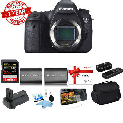 NEW! CANON EOS 6D Body Only 20.2MP Full Frame SLR DSLR Camera from ...