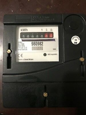 Single Phase Electric Meter zeroed