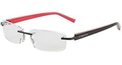 Tag Heuer TH8104 012 56MM Trends Black Red Eyeglasses Optical Rimless Frame
