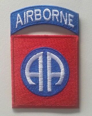 Patch US 82nd. Airborne para D-Day cut Edge WW2 - REPRO