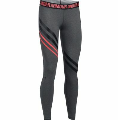 Under Armour Women's Favorite Engineered Leggings Size S M L Gray Black Fitted