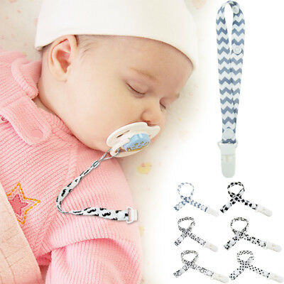 Baby Kids Boy Girl Dummy Pacifier Soother Chain Clip Holders Nipple Leash