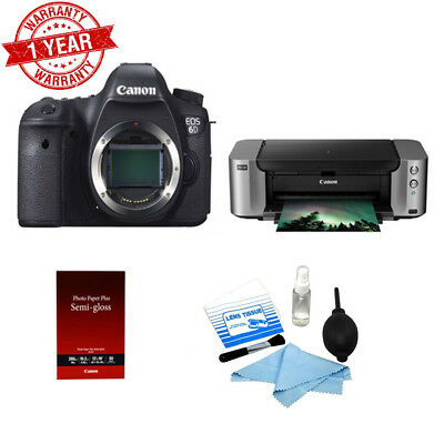 Canon EOS 6D DSLR Camera Body with PIXMA Wireless Inkjet Printer & Cleaning Kit