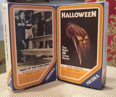 Night Of The Living Dead & Halloween Beta Tape Horror Meda/media Very Rare