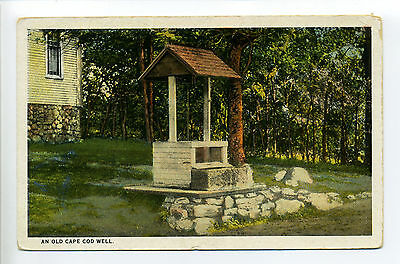 Cape Cod Barnstable MA Mass Old Well on State Highway