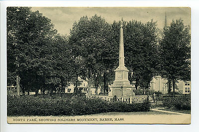 Barre MA Mass North Park, Civil War Monument, early