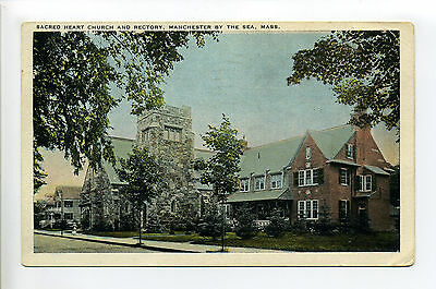 Manchester by the Sea MA Mass Sacred Heart Church & Rectory, 1928