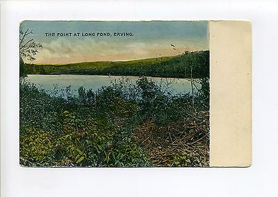 Erving MA Mass (Franklin County) The Point at Long Pond, antique postcard