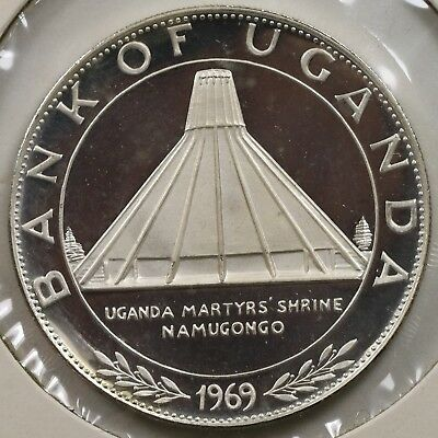 1969 Uganda 10 Shillings Silver Proof Coin