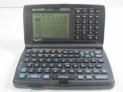 Sharp Wizard OZ-570 Electronic Organizer PC Link  Excellent Condition