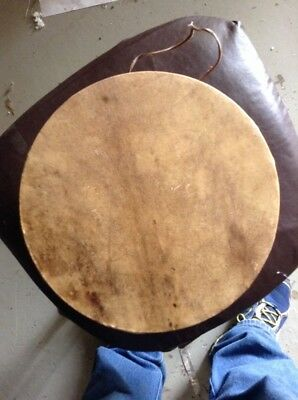 """12"""" Wide Native American Made 2 Sided Elk Drum Nez Perce Pow Wow Style #A"""