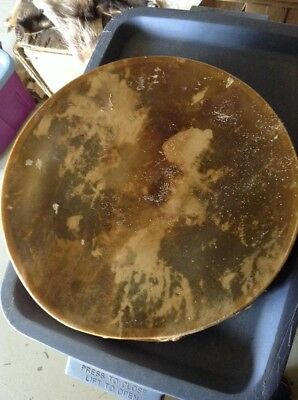 """15"""" Elk Rawhide Drum Native American Made Pow Wow Dance Cabin Decor Signed #A1"""
