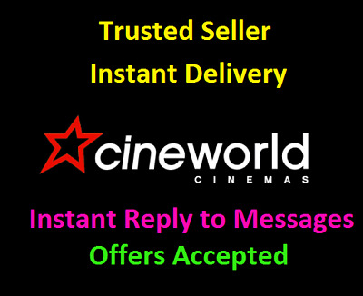 Cineworld Adult 2D Cinema e-Ticket code - £3 with code - Coming Next Week