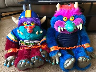 """Vintage """"my Pet Monster"""" & """"my Football Monster"""" 1986, Complete & Excellent!!!"""