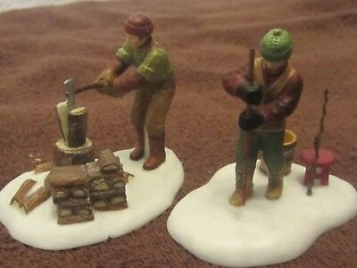 Dept. 56 New England Village Accessory 'A DAY AT THE CABIN'