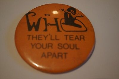 The Who Rare Large Vintage Badge Circa Mid 70's
