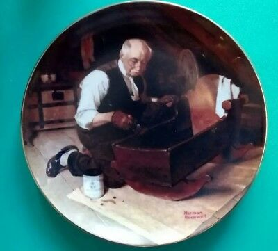 Norman Rockwell Collectible Plate Grandpa's Gift