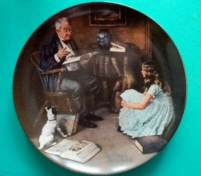 Norman Rockwell Collectible Plate The Storyteller