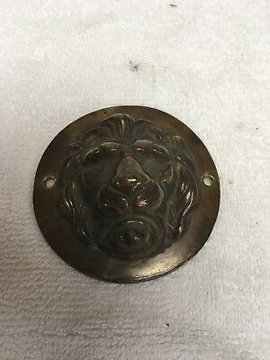 Antique Victorian cast Brass Lions Head