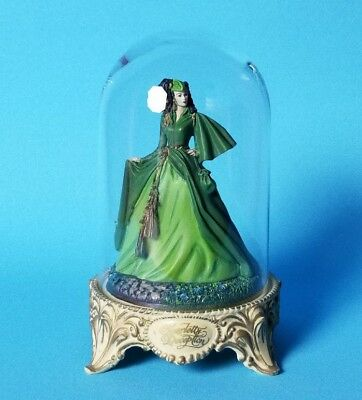 Franklin Mint Gone with the Wind Dome Scarlett O'Hara Deception 1993 Figurine