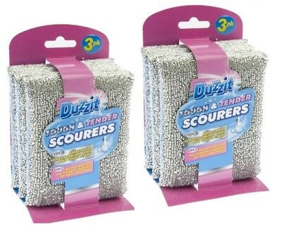 Duzzit Tough & Tender Scourers Remove Grease & Grime With Ease